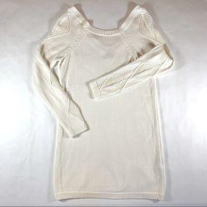 Volcom Cream Sweater Dress with Diamond Detailing